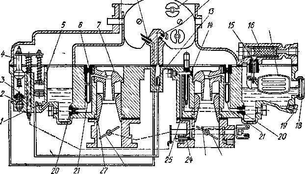 Схема карбюратора К-126Г: