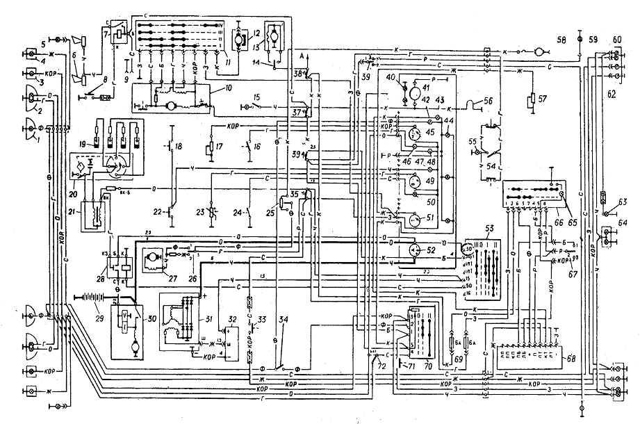 Схема электроборудования ГАЗ-